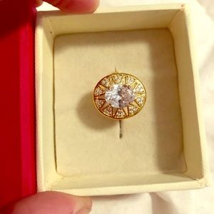 2.20Ct oval cut diamond ring solid gold 14K finish